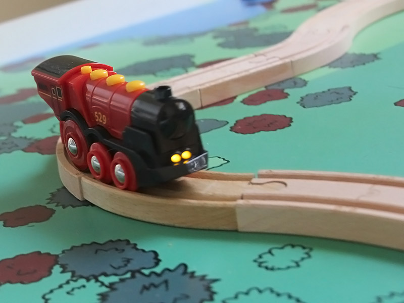 Brio red locomotive light up