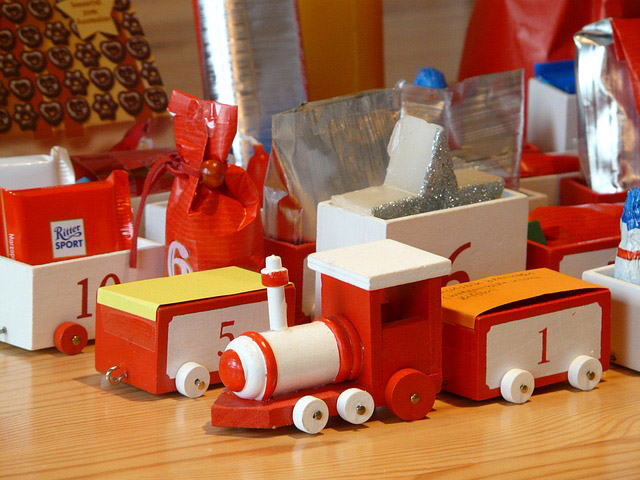 Nice Christmas wooden trains