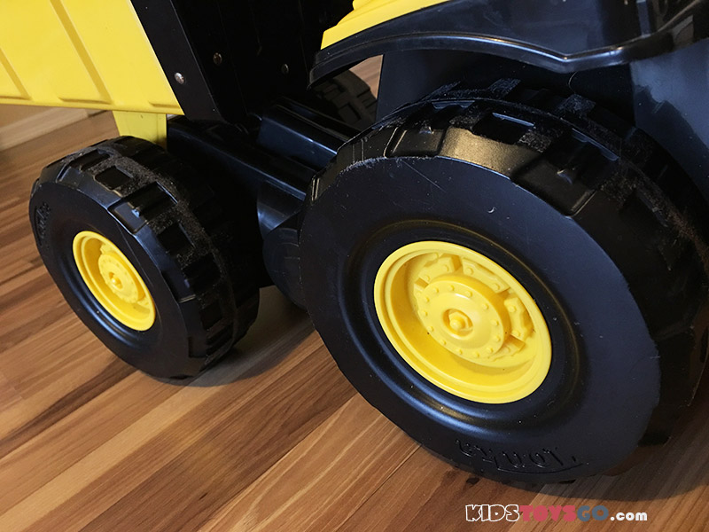 Wheels of Tonka Dump Truck