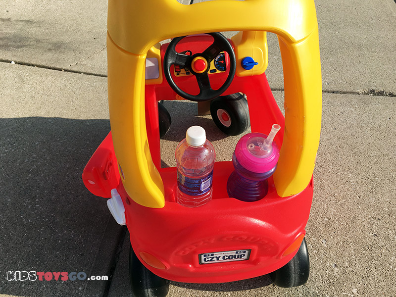 Rear storage on Cozy Coupe