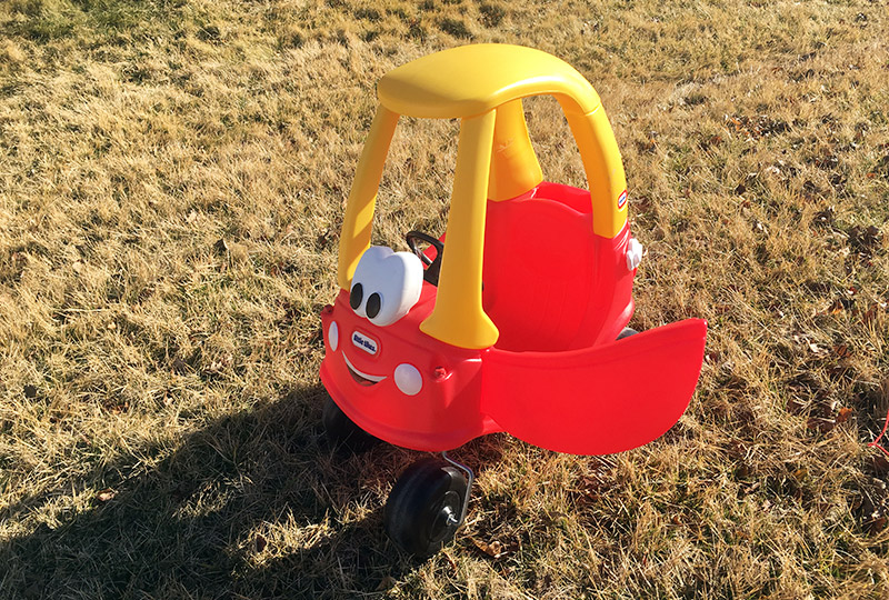 Little Tikes Cozy Coupe Car on Grass