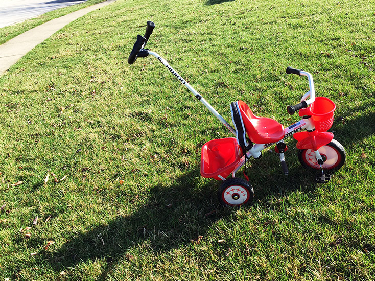 Schwinn Easy Steer Trike on Grass