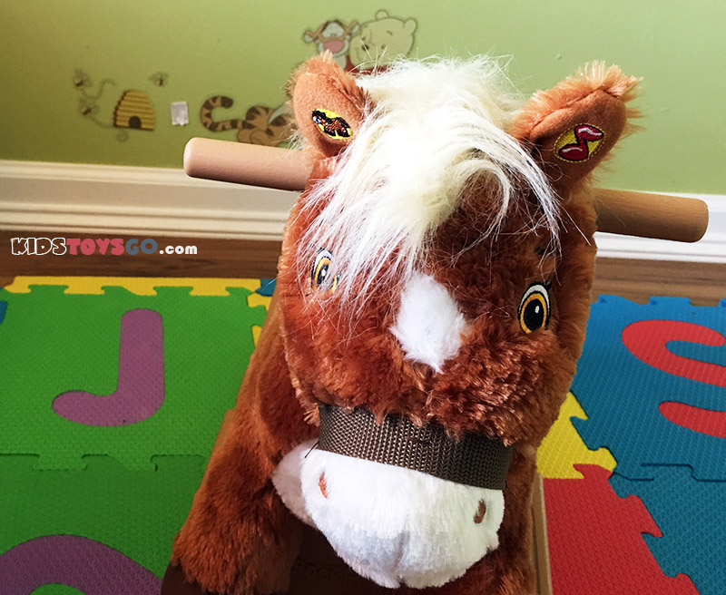 Pony can talk and sing when touching his ears.