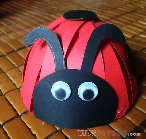 How To Make A 3d Paper Ladybug For Your Kids