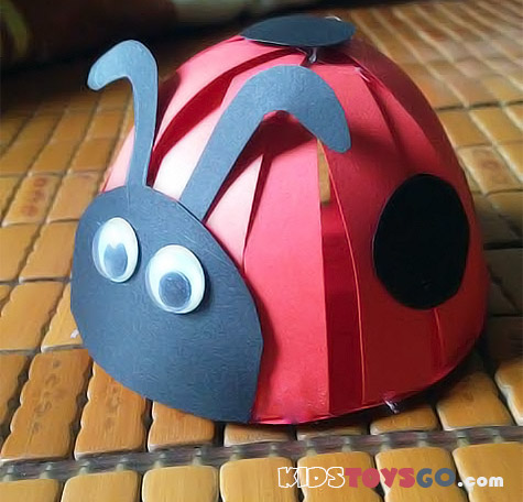how to make a 3d ladybug out of paper
