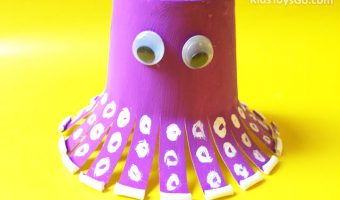 How to Make an Octopus for Your Child from Disposable Cup